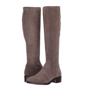 Frye tall leather stretch boots size 6 new in box